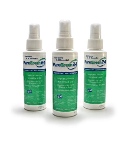 Pure Green 24 Disinfectant-Deoderizer 24ct Case 4oz