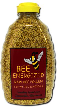 Bee Energized Raw Bee Pollen 3.5oz