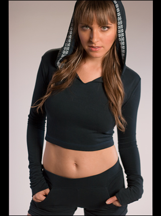 Bamboo Hooded Crop Top