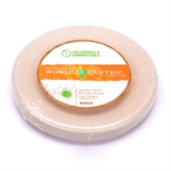6inch Wheat Straw Disposable - Compostable Plates 20ct Pkg