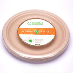 10inch Wheat Straw Disposable - Compostable Plates 20ct Pkg