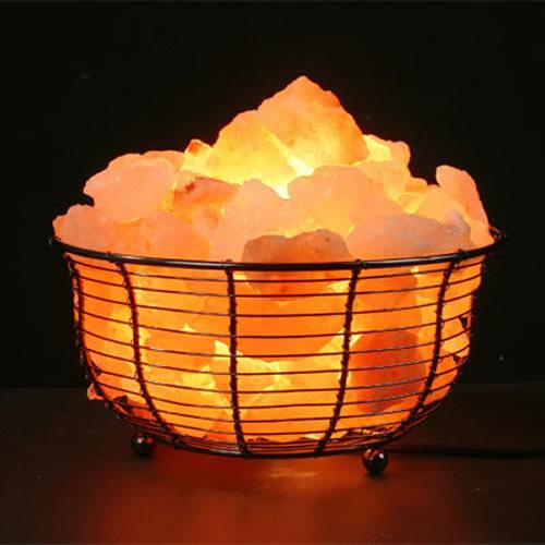 Himalayan Salt Basket Light - Round
