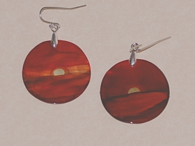 Small Sunset Oyster Shell Earings