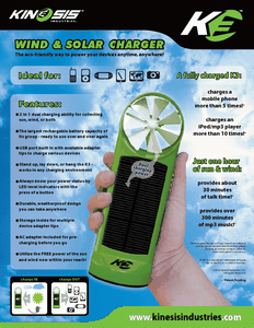 K3 Wind and Solar Charger