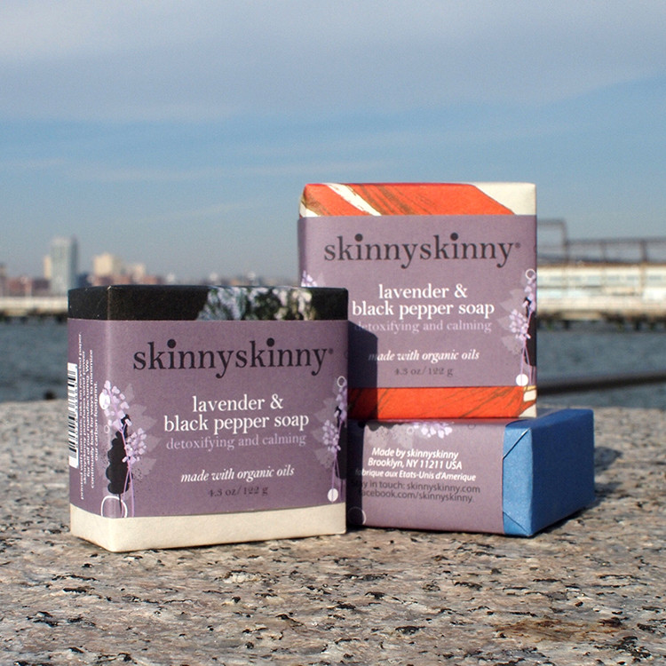 Lavender and Black Pepper Organic Soap by skinnyskinny